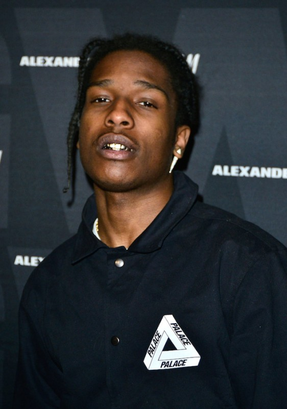 Asap Rocky With Gold Fronts At Coachella Rapperblingcom