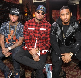 Chris Brown and Tyga promoting 'Fan Of A Fan' - RapperBling.com